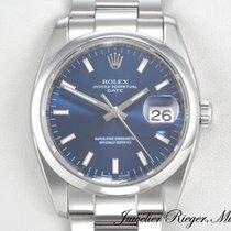 Rolex gebraucht Automatik 34mm Blau Saphirglas