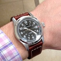 Hamilton Khaki Field Steel 42mm Black Arabic numerals