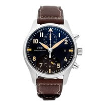 IWC Pilot Spitfire Chronograph Steel 43mm Black Arabic numerals
