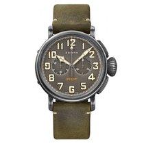 Zenith Pilot Type 20 occasion 45mm Gris Chronographe Cuir