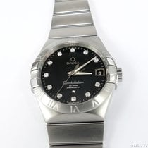 Omega Constellation Co-Axial Chronometer 8500 Black Dial Diamonds
