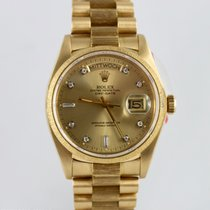 Rolex Day-Date Borke Ref. 18078 Bj.1983 LC100 +Papiere+Brillia...