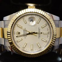 Rolex 2016 41mm Datejust II, Ivory Dial, 116333, Box & Papers