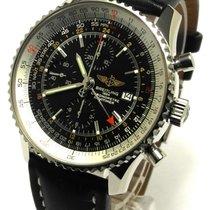 Breitling Navitimer World GMT Ref A24322 Edelstahl 2007