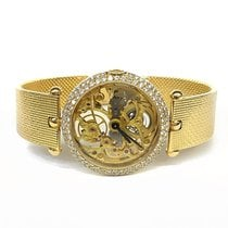 Van Cleef & Arpels Ladies 18k YG Skeleton Watch With Factory...