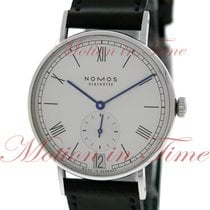 NOMOS Ludwig 38 pre-owned 37.5mm Date Leather