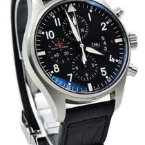 IWC IW377701 Steel Pilot Chronograph 43mm pre-owned United States of America, Indiana, Carmel