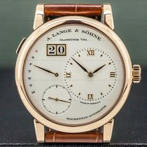 A. Lange & Söhne Rose gold Automatic Silver Roman numerals 39.5mm pre-owned Lange 1