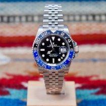 Rolex GMT-Master II Stahl 40mm Schwarz Keine Ziffern Schweiz, Genève et Paris