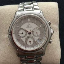 Ebel Le Modulor pre-owned 40mm White Chronograph Date Tachymeter Steel