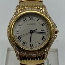 Cartier Cougar Zuto zlato 34mm Bjel