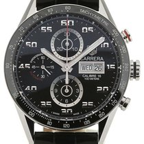 TAG Heuer Carrera 43 Chronograph Day Date Leather