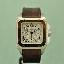 Cartier Santos 100 Золото/Cталь Cеребро