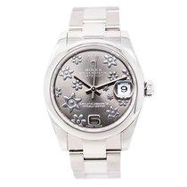 Rolex Datejust Midsize 178240 Women's Automatic Watch Floral...