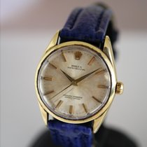 Rolex Oyster Perpetual Oro amarillo Champán Sin cifras