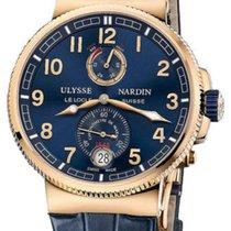 Ulysse Nardin Marine Chronometer Manufacture Pозовое золото 43mm Синий Aрабские