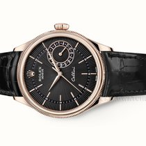 Rolex Cellini Date Rose gold 39mm Black No numerals