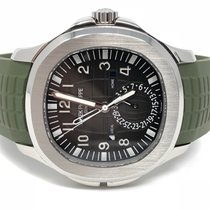 Patek Philippe Stainless Steel Aquanaut Dual Time Zone 5164A -...