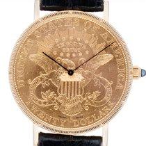 Corum 35mm Quarz gebraucht Coin Watch Schwarz