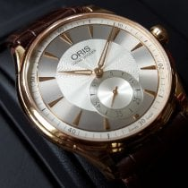 Oris Rose gold Manual winding Silver 40mm pre-owned Artelier Small Second