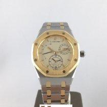Audemars Piguet Royal Oak Dual Time Gold/Stahl 36mm Champagnerfarben Keine Ziffern
