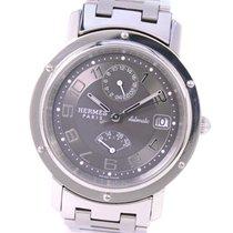 Hermès Clipper Stahl 38mm Grau