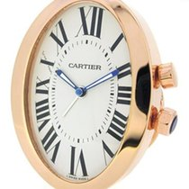 Cartier Rose Gold Capped Travel Alarm Clock 3111, w Paper...