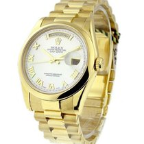 Rolex Used 118208 Mens Yellow Gold President with MOP Dial...