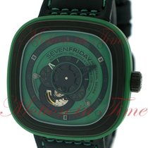 "Sevenfriday P1-5 Green Hulk ""Industrial Essence"", Black /..."