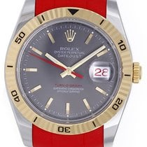 Rolex Turnograph Men's Watch Slate Dial Red Band 116263