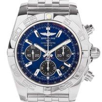 Breitling Chronomat 44 Blue Dial BLK Sub Auto Watch AB011012/C...
