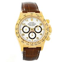 Rolex Cosmograph Daytona Yellow Gold White Dial Watch 16518...