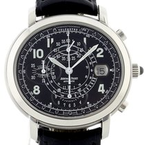 Audemars Piguet Millenary Chronograph Steel 40mm Black Arabic numerals