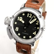 U-Boat Steel Automatic Black 43mm pre-owned Chimera