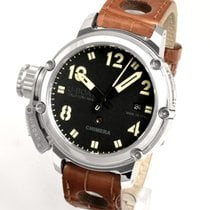 U-Boat Chimera pre-owned 43mm Black Date Leather