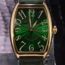 Franck Muller Yellow gold Automatic Green Arabic numerals 40mm pre-owned