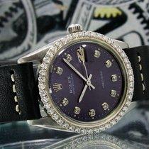 Rolex Oyster Precision Acero 34mm Violeta Sin cifras