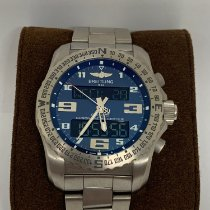 Breitling Cockpit B50 pre-owned 46mm Blue Titanium