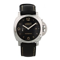 Panerai Luminor Marina 1950 3 Days Automatic pre-owned 44mm Black Date Leather
