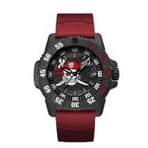 雷明时 碳 46mm 石英 3801.JR.SE LUMINOX Sea Series Jolly Roger Caucciù Rosso 46mm 全新