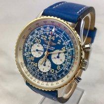 Breitling Navitimer Cosmonaute Gold/Stahl Blau Arabisch