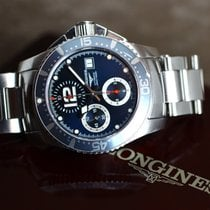 Longines Chronograph 40mm Automatic pre-owned HydroConquest Blue