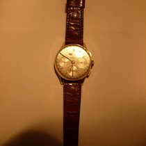 Ernest Borel Chronograph 35mm Manual winding 1950 pre-owned Silver
