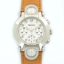 DeLaneau 3-Time Zone Automatic Chronograph Watch