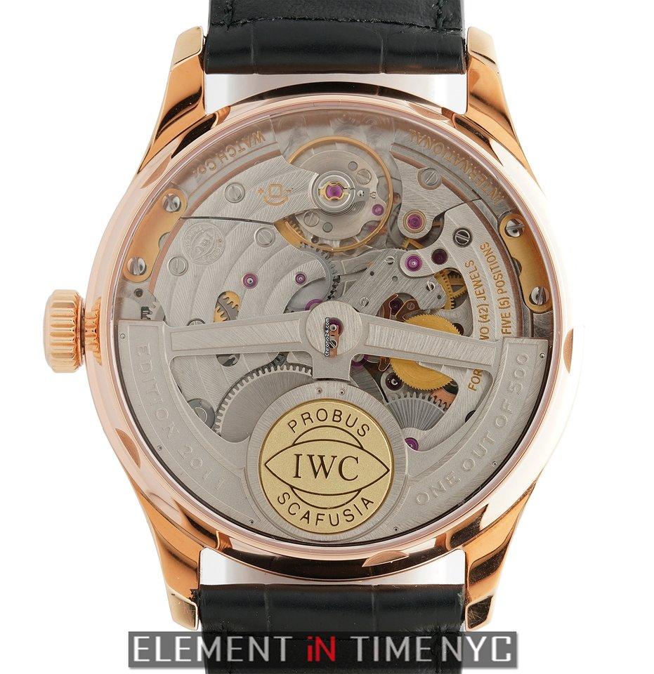 783c8320538 IWC Portuguese Collection 7 Day 18k Rose Gold Boutique Limited... por  14.298 € para vender por um Trusted Seller na Chrono24