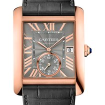 Cartier Rose gold Automatic Grey Roman numerals 44mm pre-owned Tank MC