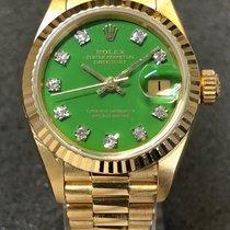 Rolex Lady-Datejust Or jaune 26mm Vert