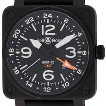 Bell & Ross BR 01-93 GMT Steel 46mm Black Arabic numerals