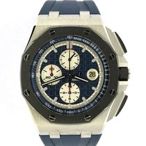 Audemars Piguet Chronograph 44mm Automatik 2015 gebraucht Royal Oak Offshore Chronograph Blau