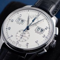IWC Portuguese Perpetual Calendar Digital Date-Month Platinum Silver United States of America, Texas, Houston
